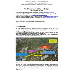 The Extension of the U12 Lot 3 in Stuttgart – Tunneling at its Best