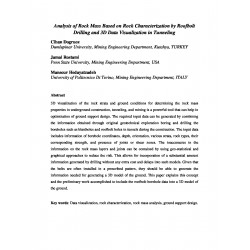 Analysis of Rock Mass Based on Rock Characterization by Roofbolt Drilling and 3D Data Visualization in Tunneling