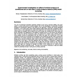 Experimental investigation on effect of ambient pressure of conditioned soil on tool wear in earth pressure balance (EPB) shield tunneling