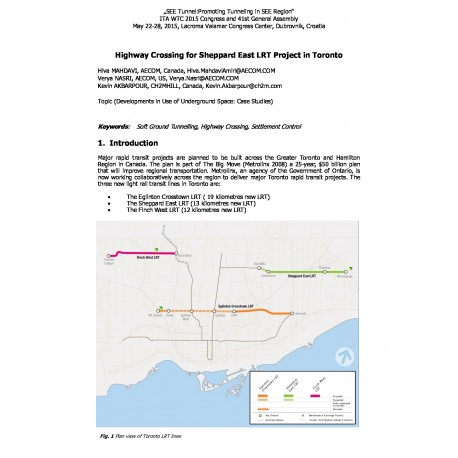 Highway Crossing for Sheppard East LRT Project in Toronto