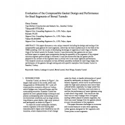 Evaluation of the Compressible Gasket Design and Performance for Steel Segments of Bored Tunnels