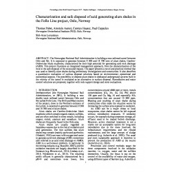 Characterization and safe disposal of acid generating alum shales in the Follo Line project, Oslo, Norway