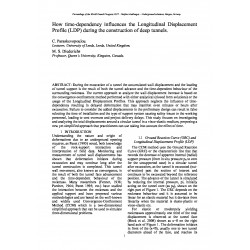 How time-dependency influences the Longitudinal Displacement Profile (LDP) during the construction of deep tunnels