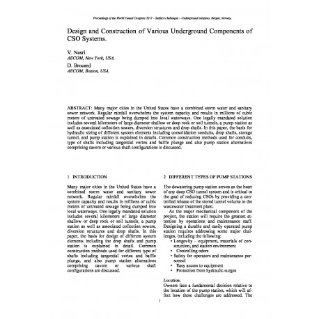Design and Construction of Various Underground Components of CSO Systems