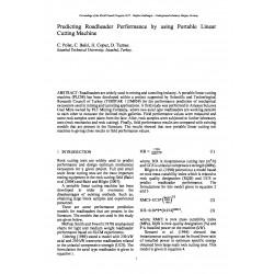 Predicting Roadheader Performance by using Portable Linear Cutting Machine