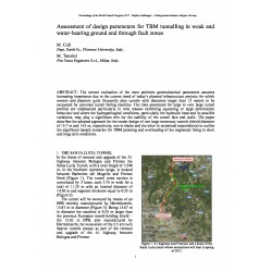 Assessment of design parameters for TBM tunnelling in weak and water-bearing ground and through fault zones