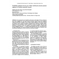 Feasibility analysis for the use of fiber reinforced concrete precast segment in Nenskra hydraulic tunnels