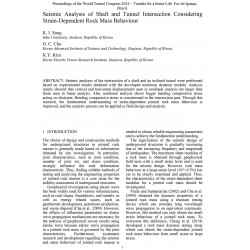 Seismic Analysis of Shaft and Tunnel Intersection Considering Strain-Dependent Rock Mass Behaviour
