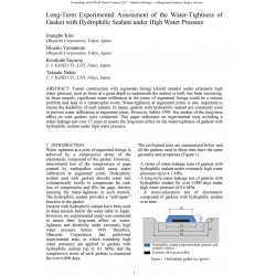 Long-Term Experimental Assessment of the Water-Tightness of Gasket with Hydrophilic Sealant under High Water Pressure