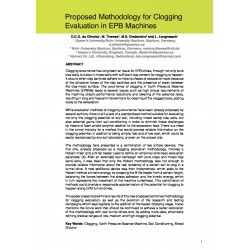 Proposed Methodology for Clogging Evaluation in EPB Machines
