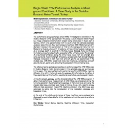 Single Shield TBM Performance Analysis in Mixed ground Conditions: A Case Study in the Dudullu Bostanci Metro Tunnel, Turkey