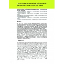Optimized reinforcement for precast tunnel segments with macro-synthetic fibers