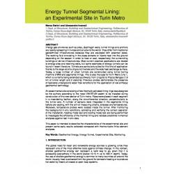 Energy Tunnel Segmental Lining: an Experimental Site in Turin Metro