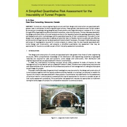 A Simplified Quantitative Risk Assessment for the Insurability of Tunnel Projects