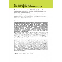Fire characteristics and available egress time in rail tunnels