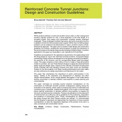 Reinforced Concrete Tunnel Junctions: Design and Construction Guidelines