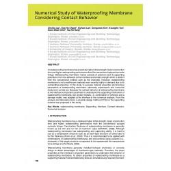 Numerical Study of Waterproofing Membrane Considering Contact Behavior