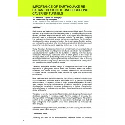 Importance of earthquake re sistant design of underground caverns/ tunnels