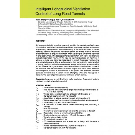 Intelligent Longitudinal Ventilation Control of Long Road Tunnels
