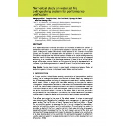 Numerical study on water jet fire extinguishing system for performance verification