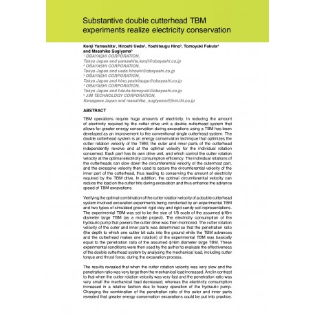 Substantive double cutterhead TBM experiments realize electricity conservation