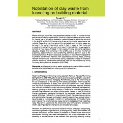 Nobilitation of clay waste from tunneling as building material