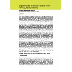 Experimental evaluation of soil-foam mixing under pressure
