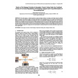 Study on the Damage Evolution in Secondary Tunnel Lining Under the Combined Actions of Corrosion Degradation of Preliminary Support and Creep Deformation of Surrounding Rock