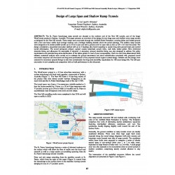 Design of Large Span and Shallow Ramp Tunnels