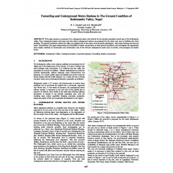 Tunnelling and Underground Metro Stations in the Ground Condition of Kathmandu Valley, Nepal