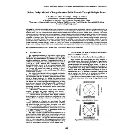 Robust Design Method of Large-diameter Shield Tunnels through Multiple Strata
