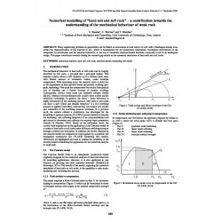 """Numerical Modelling of """"Hard Soil and Soft Rock"""" - A Contribution towards the Understanding of the Mechanical Behaviour of Weak Rock"""