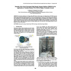 Potential of the newly developed High Density Support Medium (HDSM) for the application of Variable Density (VD)-TBM in highly permeable ground