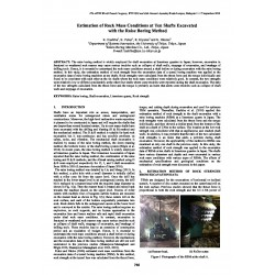 Estimation of Rock Mass Conditions at Ten Shafts Excavated with the Raise Boring Method
