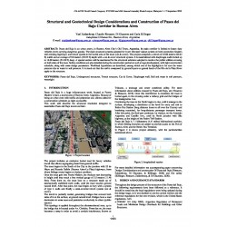 Structural and geotechnical design considerations and construction of Paseo del Bajo corridor in Buenos Aires