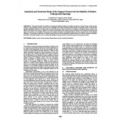 Analytical and Numerical Study of the Support Pressure for the Stability of Shallow Underground Openings