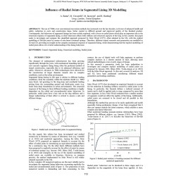 Influence of Radial Joints in Segmental Lining 3D Modelling
