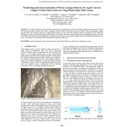 Monitoring and Characterization of Water Leakage Behavior for Aged Concrete Lining of Urban Metro Lines by Using Plastic Optic Fiber Sensor