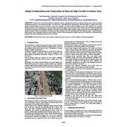 Design considerations and construction of Paseo del Bajo corridor in Buenos Aires
