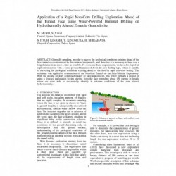 Application of a Rapid Non-Core Drilling Exploration Ahead of the Tunnel Face using Water-Powered Hammer Drilling on Hydrothermally Altered Zones in Granodiorite