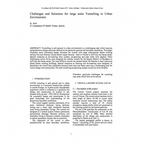 Challenges and Solutions for large scale Tunnelling in Urban Environment
