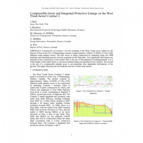 Compressible Grout and Integrated Protective Linings on the West Trunk Sewer Contract 2
