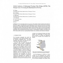 Global Analysis of Submerged Floating Tube Bridge (SFTB): The Design Case of Crossing the Bjørnefjord in Norway