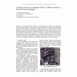 Cityringen metro line Copenhagen Effects of TBM excavation on historical masonry buildings