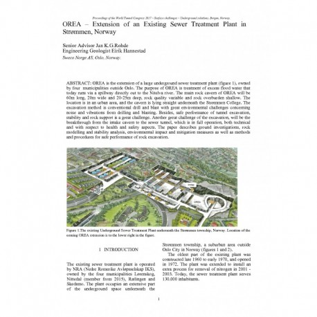 OREA – Extension of an Existing Sewer Treatment Plant in Strømmen, Norway