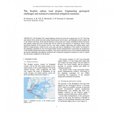 The Rogfast subsea road project: Engineering geological challenges and technical-contractual mitigation measures