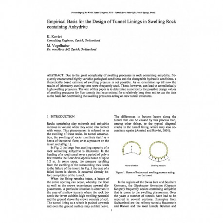 Empirical Basis for the Design of Tunnel Linings in Swelling Rock containing Anhydrite