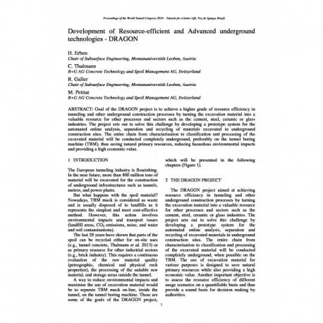 Development of Resource-efficient and Advanced underground technologies - DRAGON