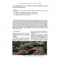 Los Teques Metro Line 2, Venezuela – ground treatment for tunnel cavern in graphitc schist