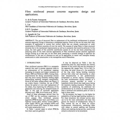 Fibre reinforced precast concrete segments: design and applications